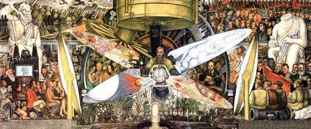 Diego Rivera: El hombre controlador del universo o El hombre en la encrucijada.