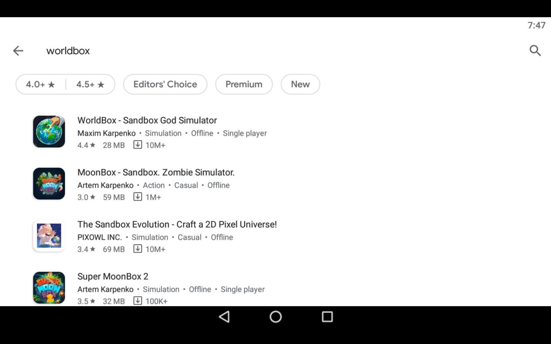Worldbox app on PC