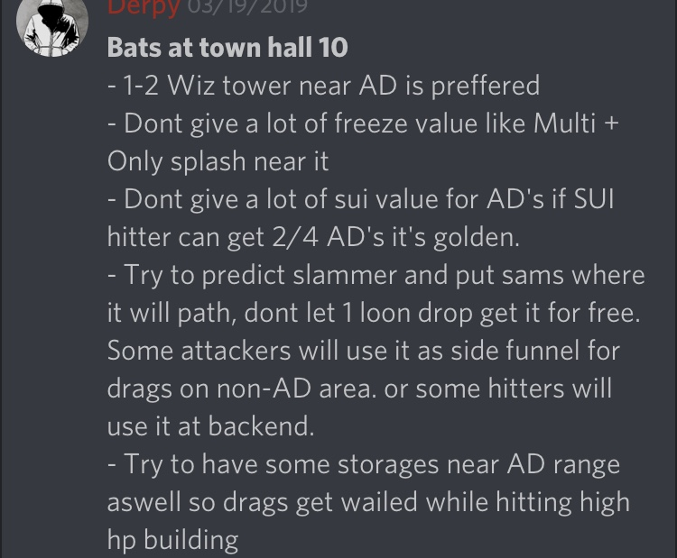 Tips against bats