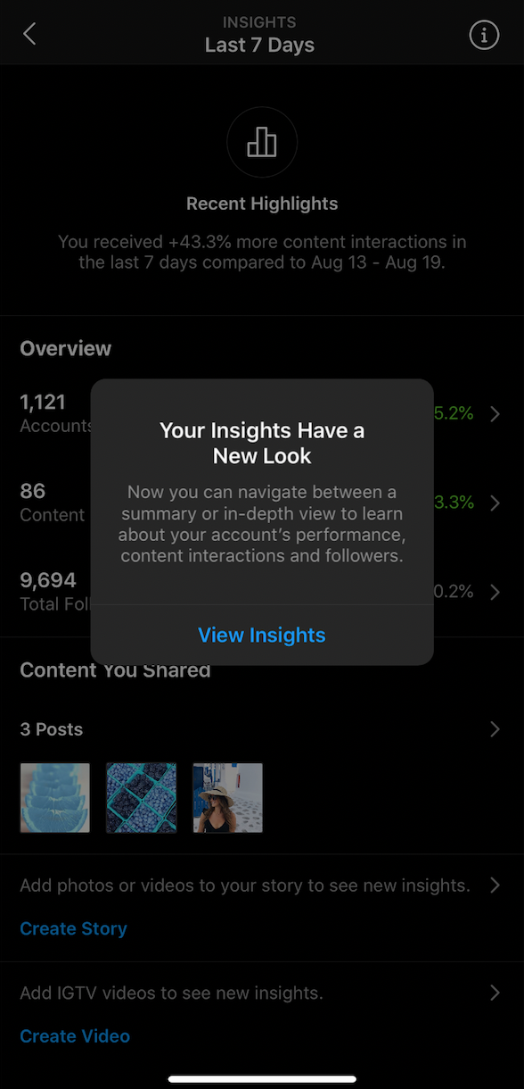 Instagram creator insights