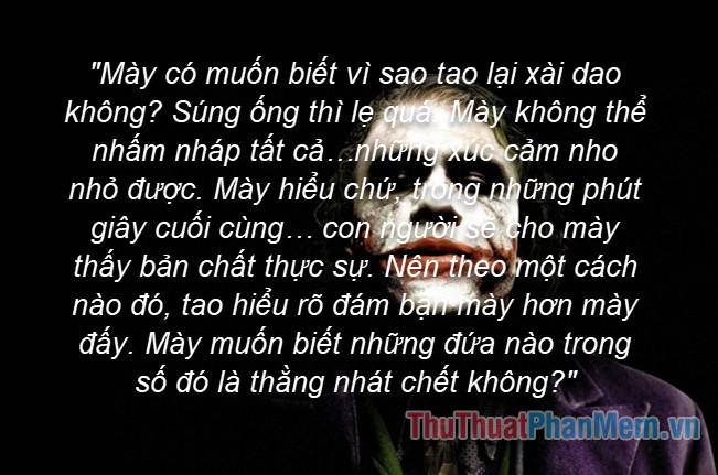 Những câu nói hay của Joker - 14