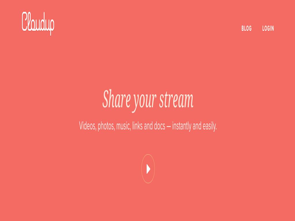 Cloudup screen