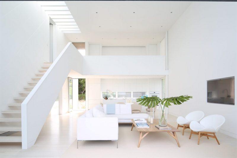 sơn nhà đẹp màu trắng