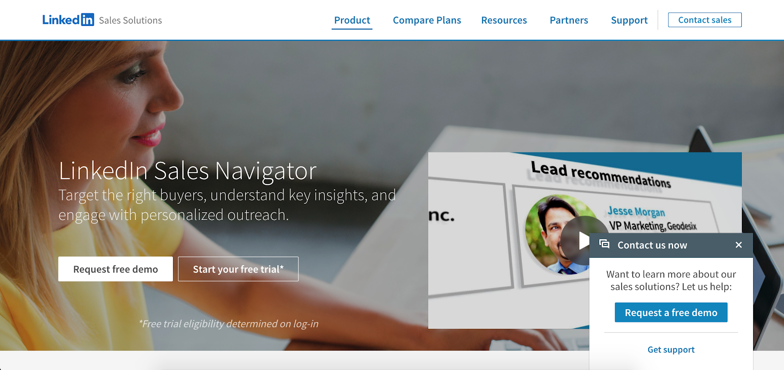 LinkedIn Sales Navigator is the ninth Best B2B Lead Generation Tool example | The article is 21 of the Best B2B Lead Generation Tools for 2020