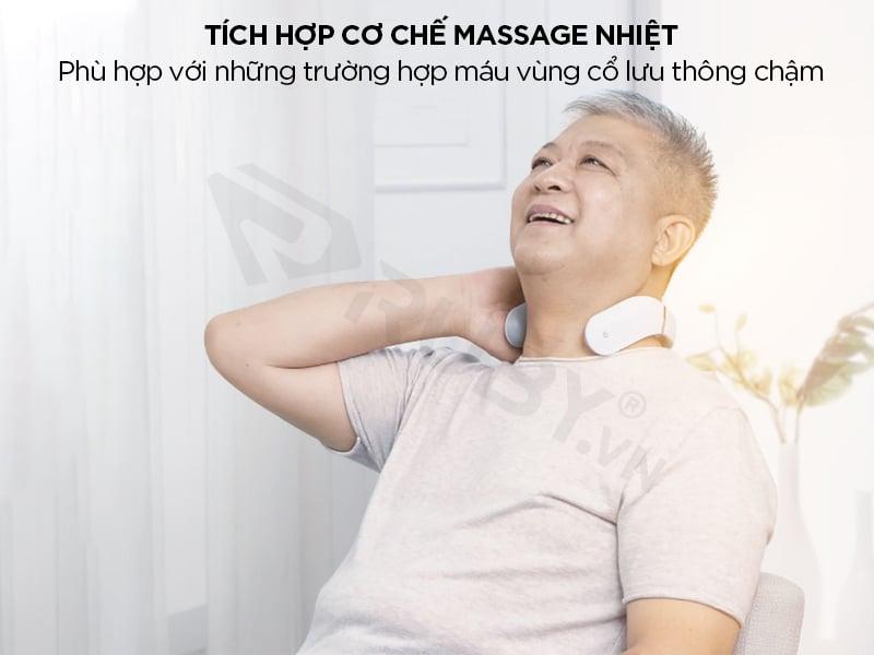Máy massage cổ vai gáy bằng tia hồng ngoại Xiaomi Jeeback G2, giảm đau chăm sóc sức khỏe
