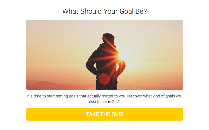 what should your goal be quiz cover
