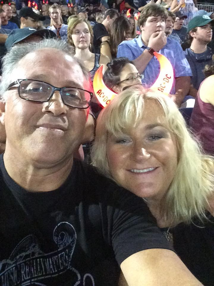 Peg and Aaron at the AC DC Concert.JPG