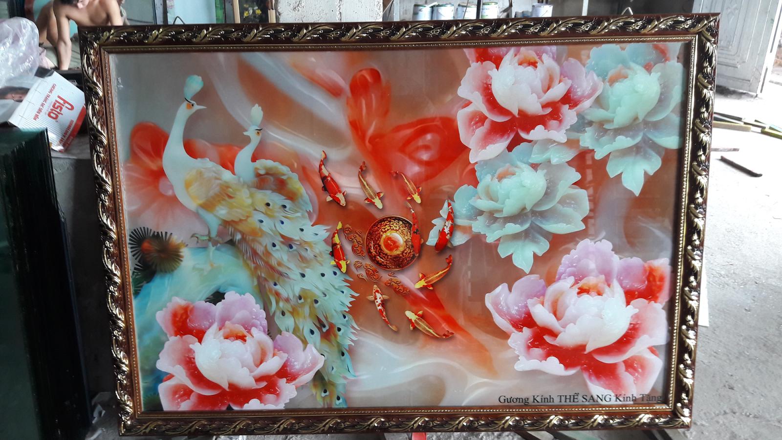 Shop tranh ảnh nghệ thuật chất liệu gương kính cao cấp, vải canvans, mica