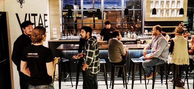 The Tasting Room At Vitae Spirits in Charlottesville, Virginia Distillery