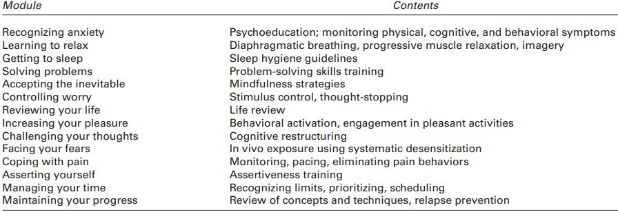 CALM Protocol Anxiety