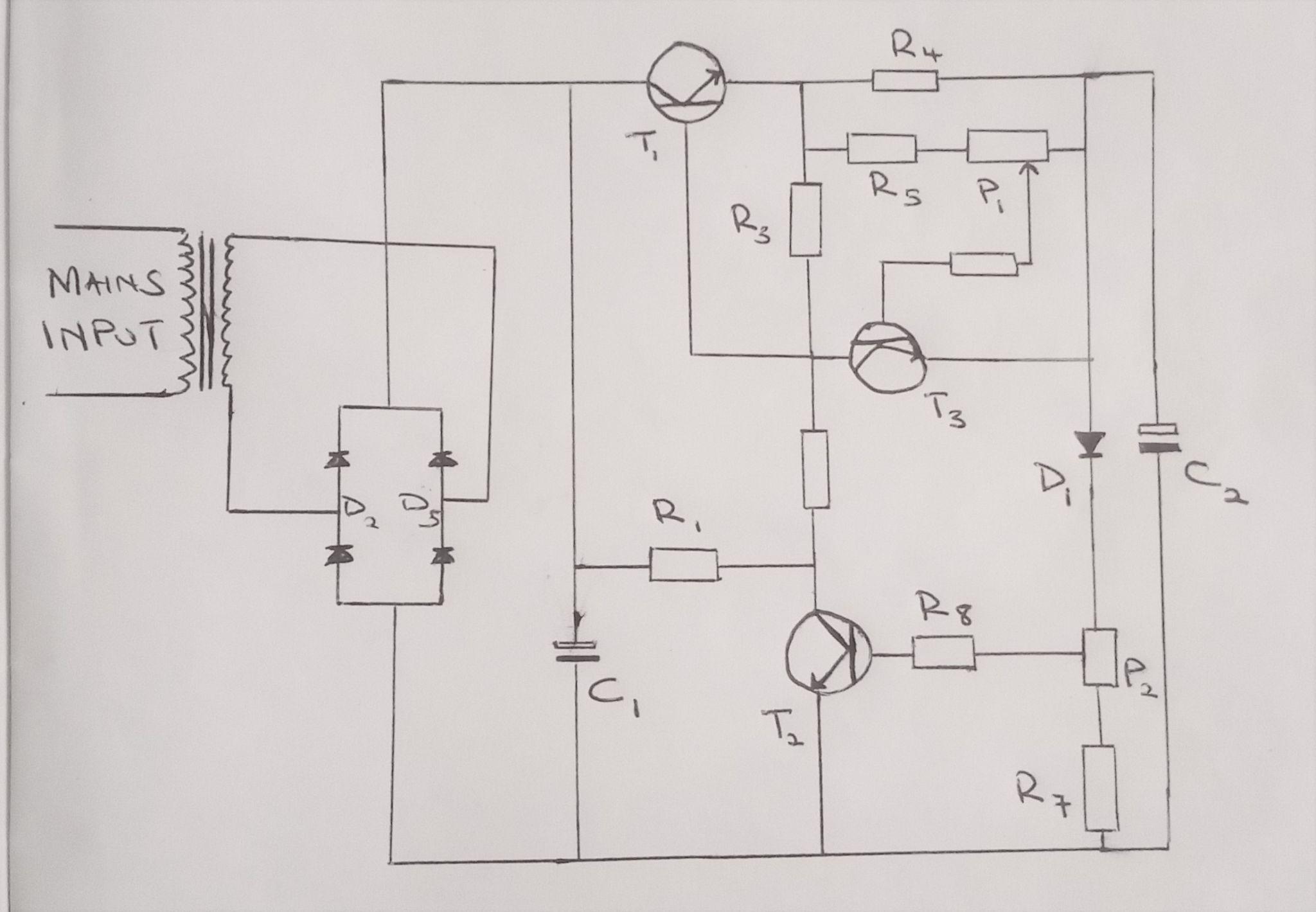 变压变电流电源电路图