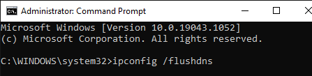 The Command line for the DNS flushing
