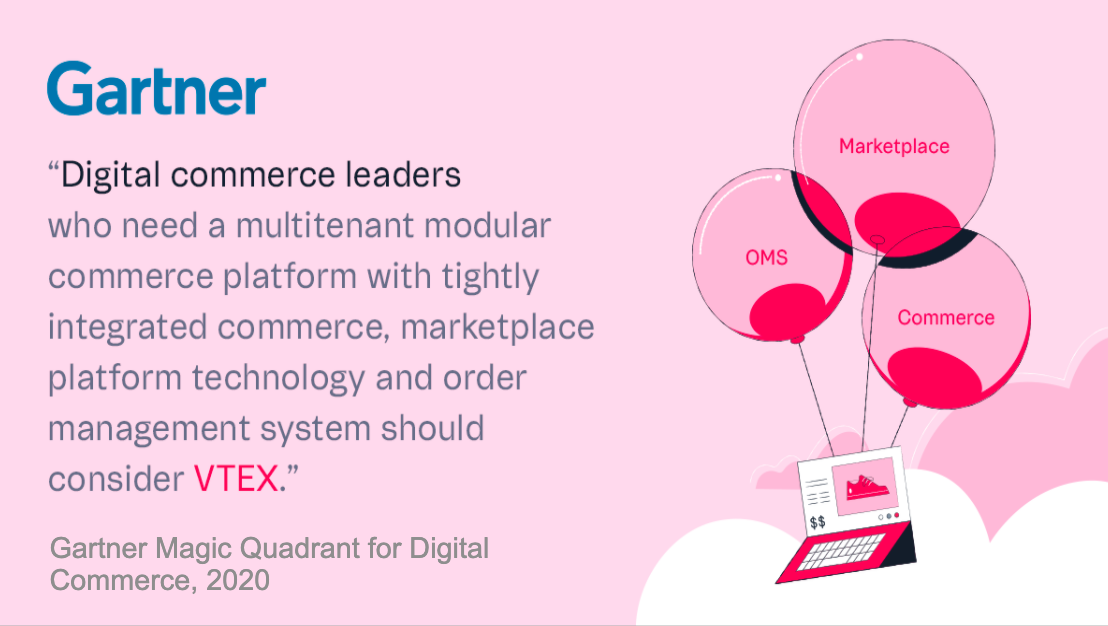 Gartner 2020 Magic Quadrant for Digital Commerce quote about VTEX
