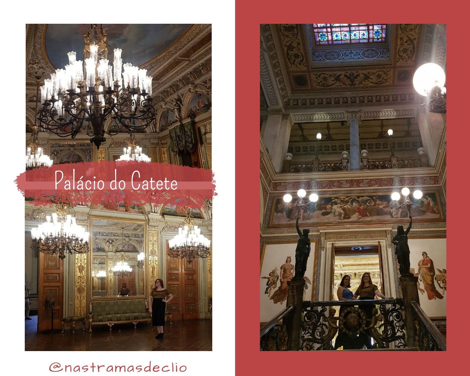 Fotografias do interior do Palácio do Catete.