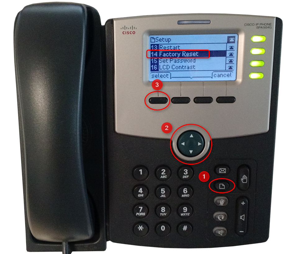 How to factory reset a Cisco SPA series - 3CX