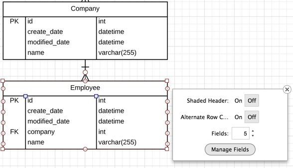5 steps to diagramming your database with lucidchart manage fields in lucidchart cloudbakers ccuart Gallery