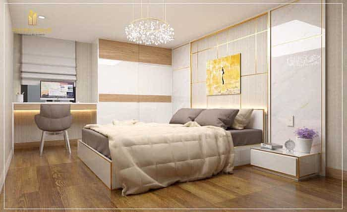 Phòng ngủ của căn hộ này luôn mang đến sự ấn tượng
