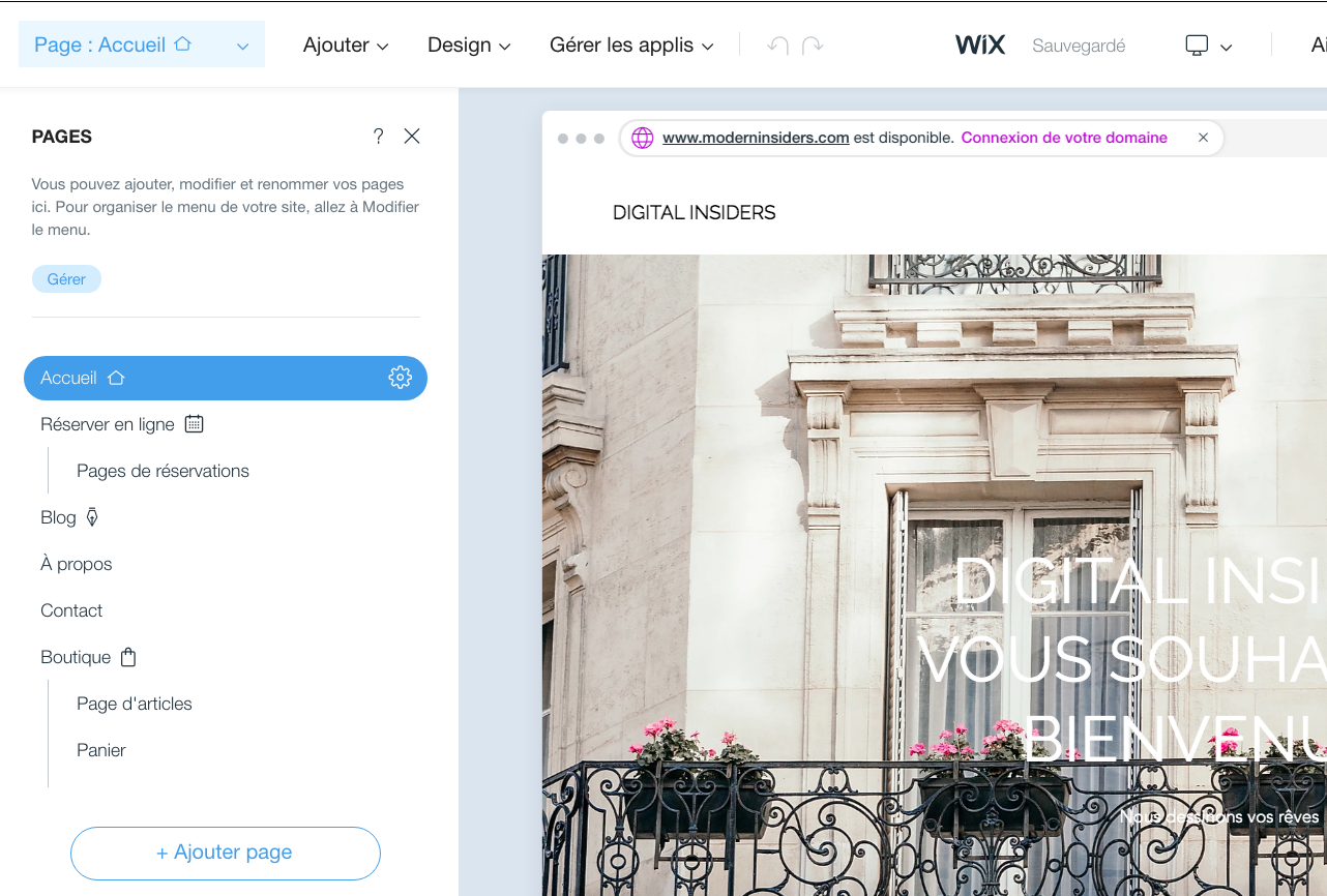 Wix et l'e-commerce