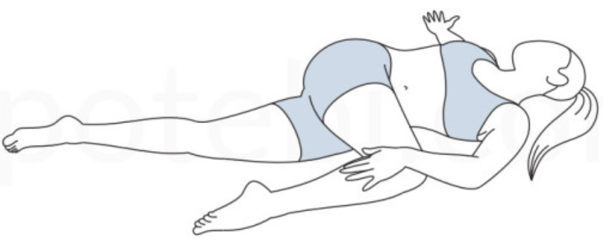 supine spinal twist yoga pose