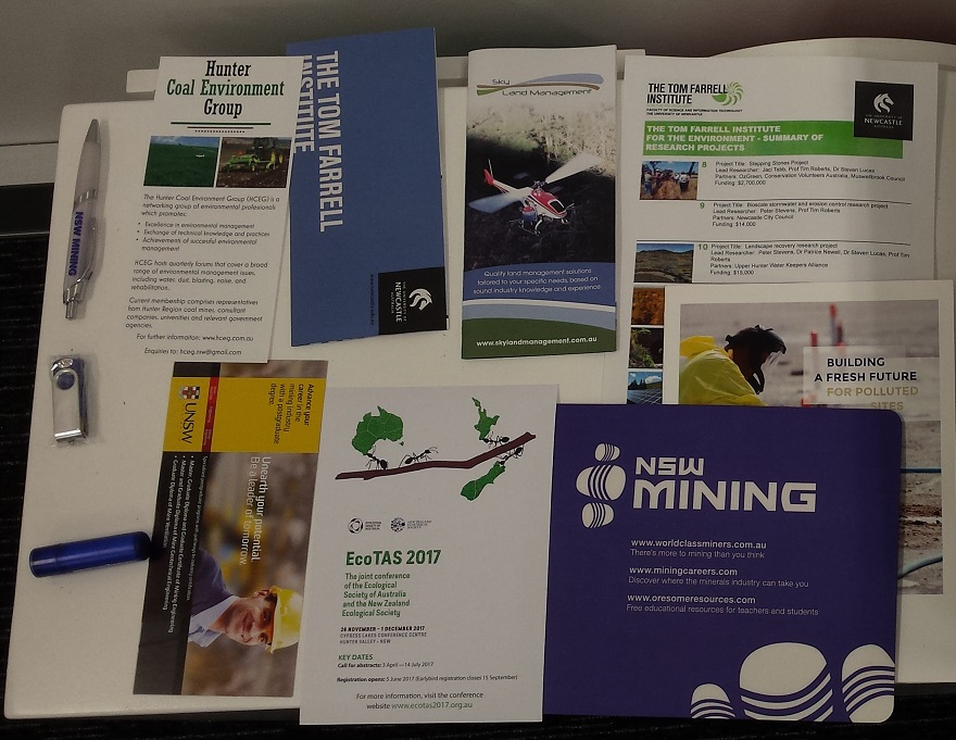 Some of the Conference Bag Inserts in 2017