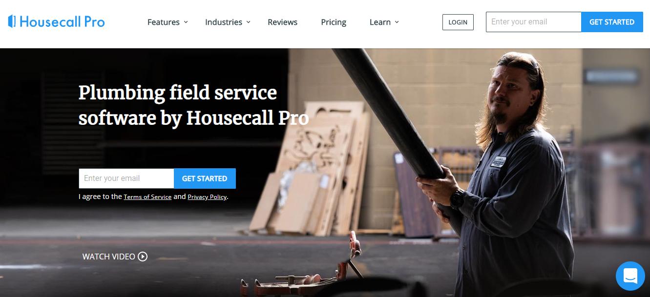 Screenshot of Housecall Pro website