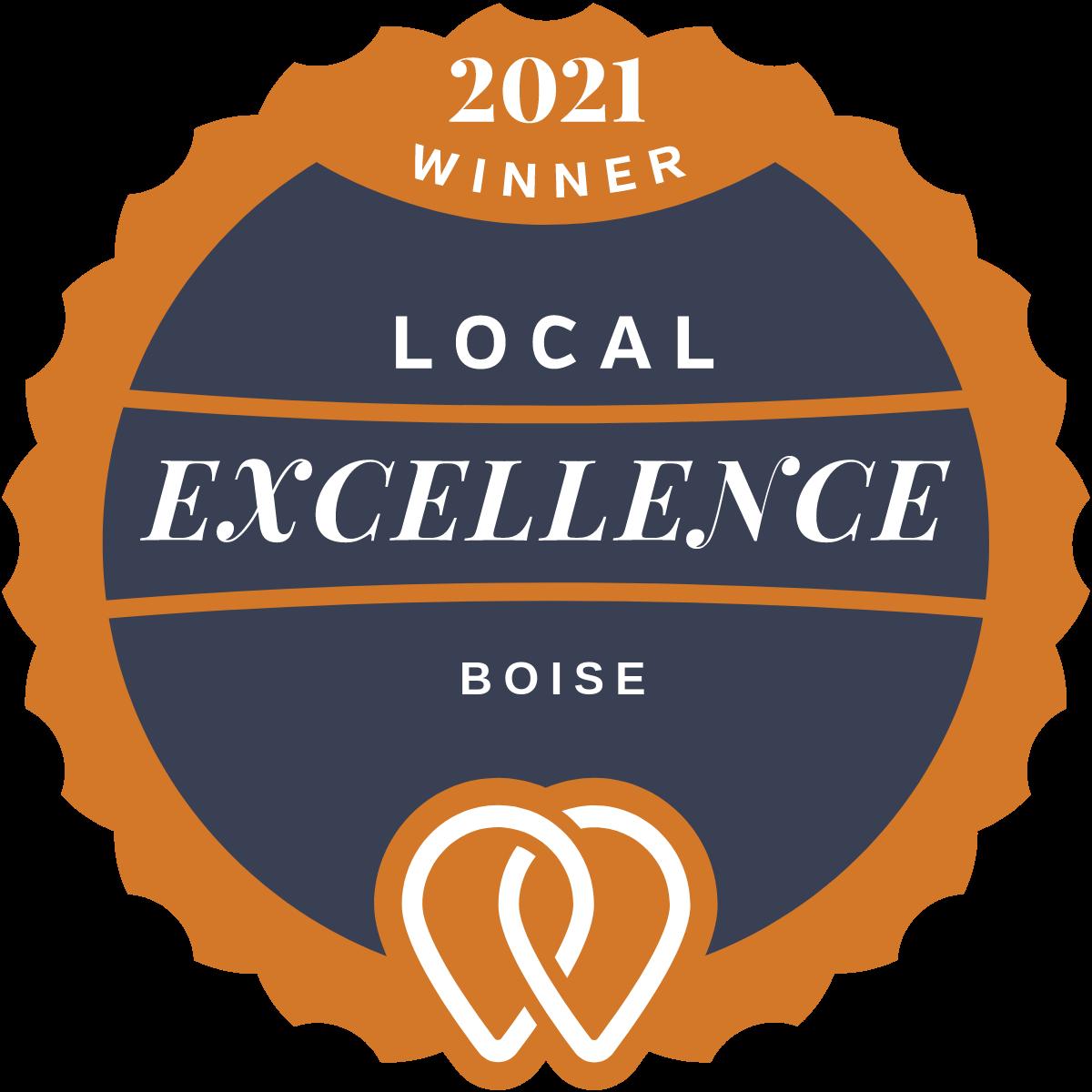 2021 UpCity Boise Local Excellence Winner badge