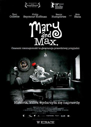 Przód ulotki filmu 'Mary i Max'