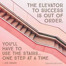 The elevator to success is out of order - Sabrina Cadini