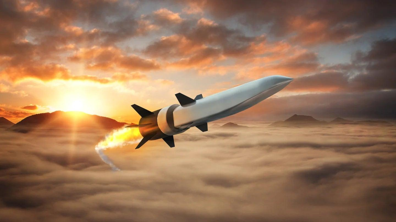 An artist's conception of a Raytheon/Northrop Grumman-designed scramjet-powered hypersonic missile.