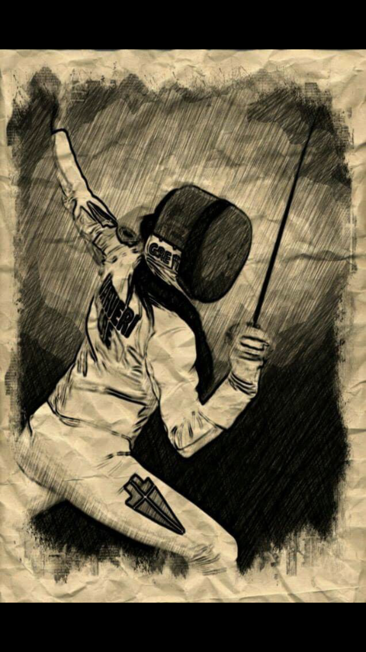 At the ready fencer - 50+ Amazing Smartphone Fencing  Backgrounds