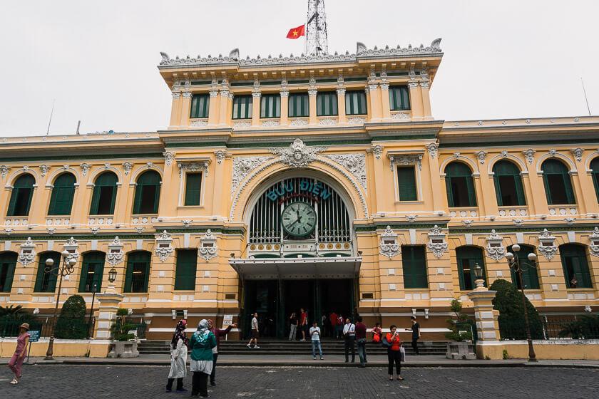 Saigon Central Post Office.