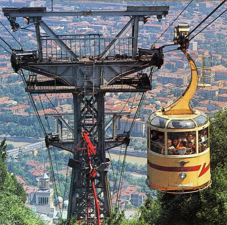 Канатная дорога в г. Тбилиси, 70-е годы