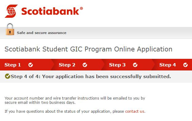 Scotiabank Student GIC Program step4