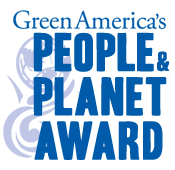 Dhana Awarded Summer 2014 People and Planet Award from Green America