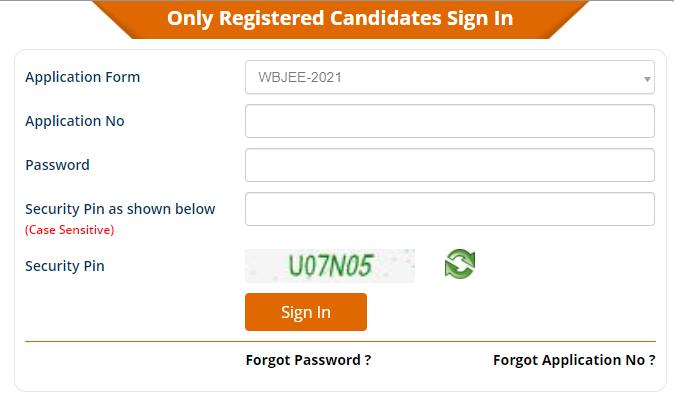 WBJEE 2021 Application Form Correction