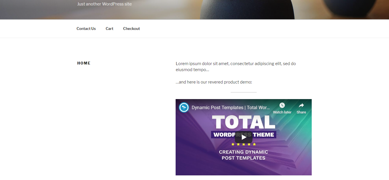Add videos to wordpress