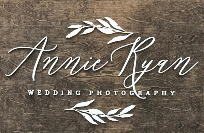 Laser cut sign example for wedding photography company on wood gift idea