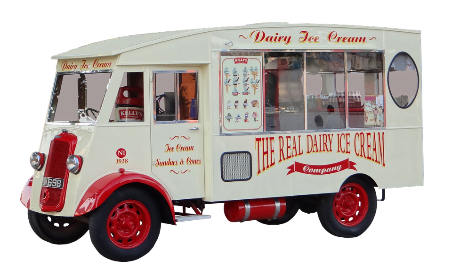 Mobile Shop, Dairy, Ice Cream, Truck, Ice Truck