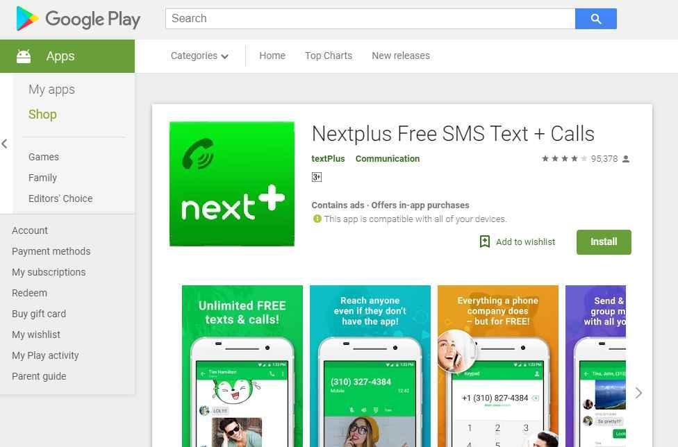 NextFree Plus- temporary phone number