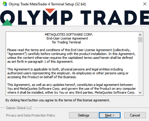 Install Olymp Trade MT4 app for PC