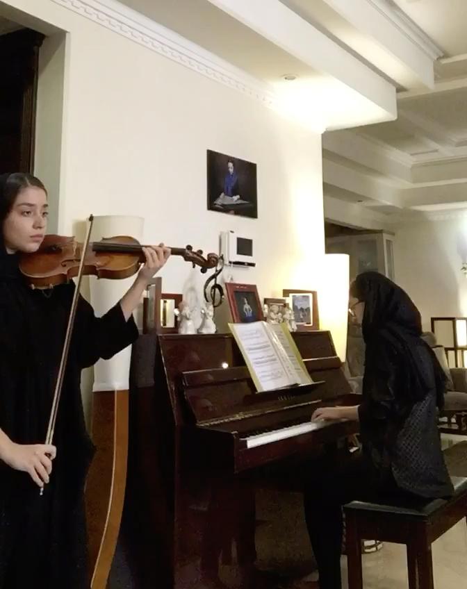 رومنس بتهوون فا ماژور اپوس ۵۰ رومینا احمدی ویولن درساسادات موسوی پیانو