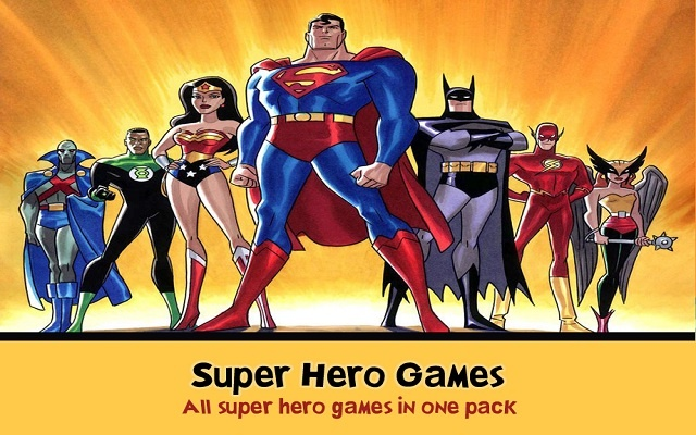 ... provides you online games you can play as your favorite hero: https://chrome.google.com/webstore/detail/super-hero-games...