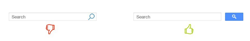 Exemple de bouton de recherche sur un moteur de recherche interne