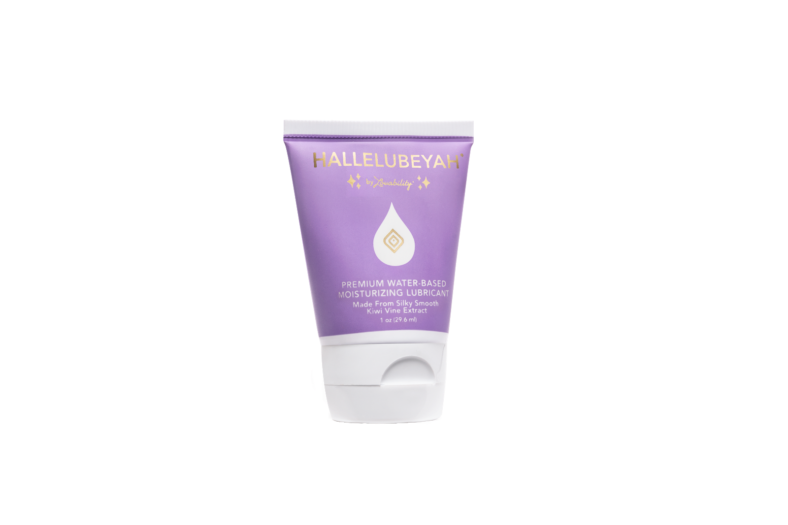 Lovability's Hallelubeyah premium water-based moisturizing lubricant is 1 of 6 sex essentials for any overnight sex bag.