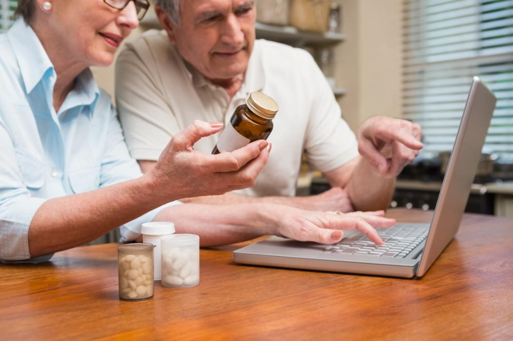 A couple orders their medication online