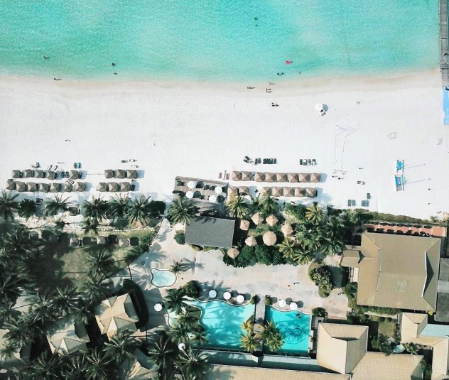 Image result for the taaras beach & spa resort aerial shot