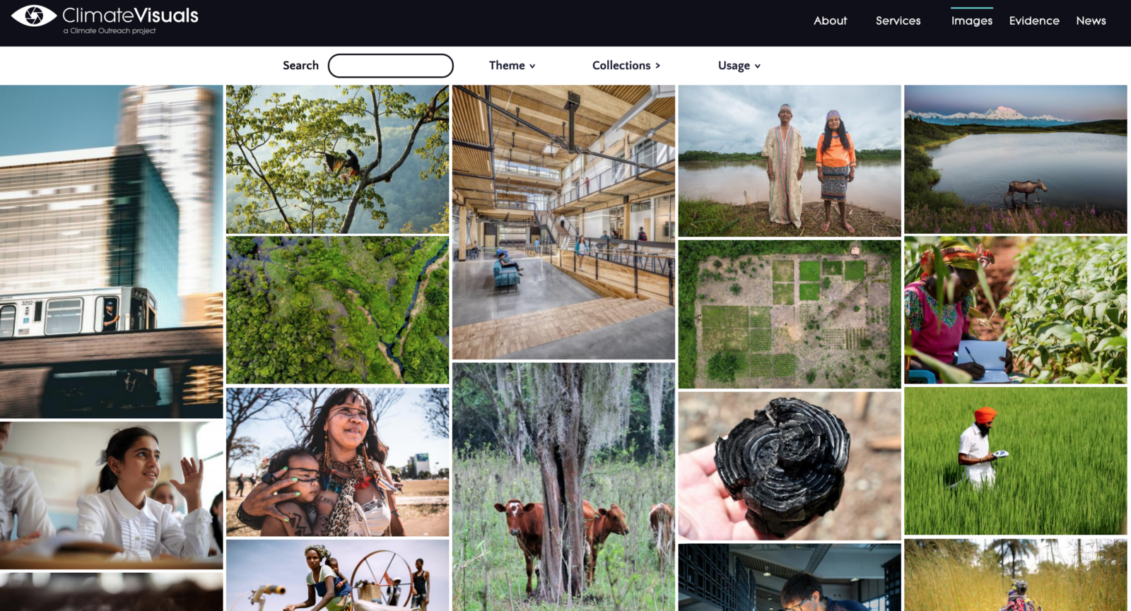 Climate Visuals website