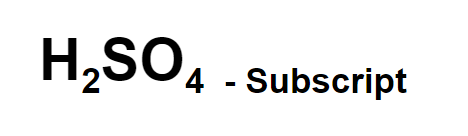 Subscript example