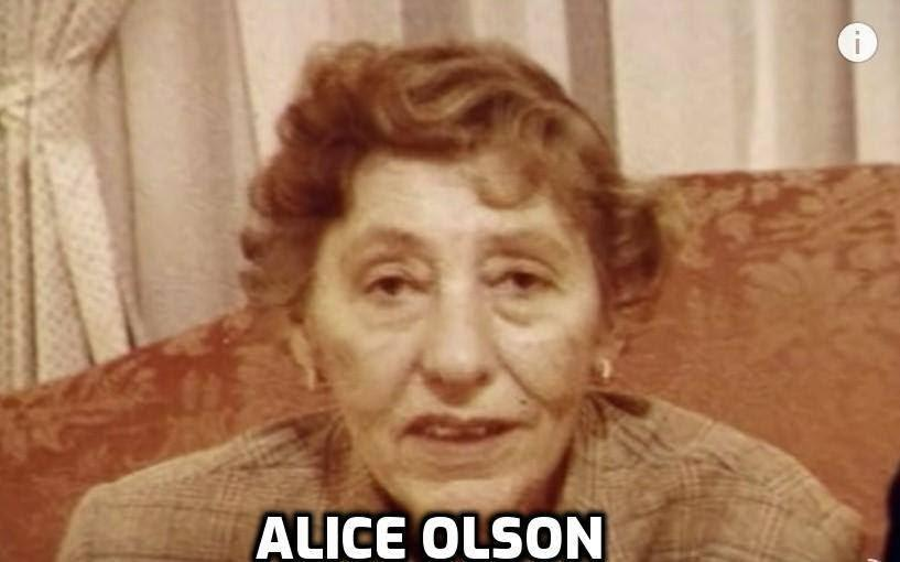 Image may contain: 1 person, possible text that says 'ALICE OLSON'