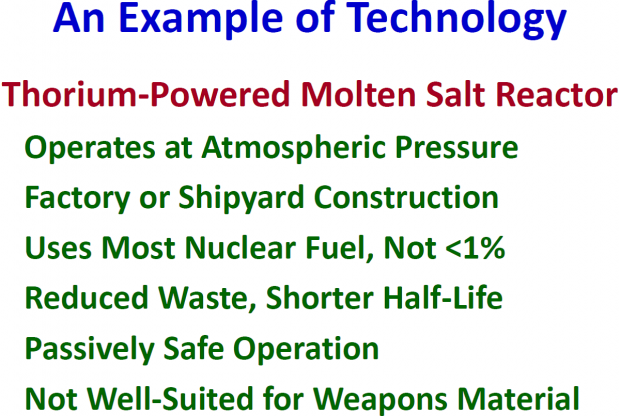 Chart 4. An example of a nuclear technology that is ripe for development.